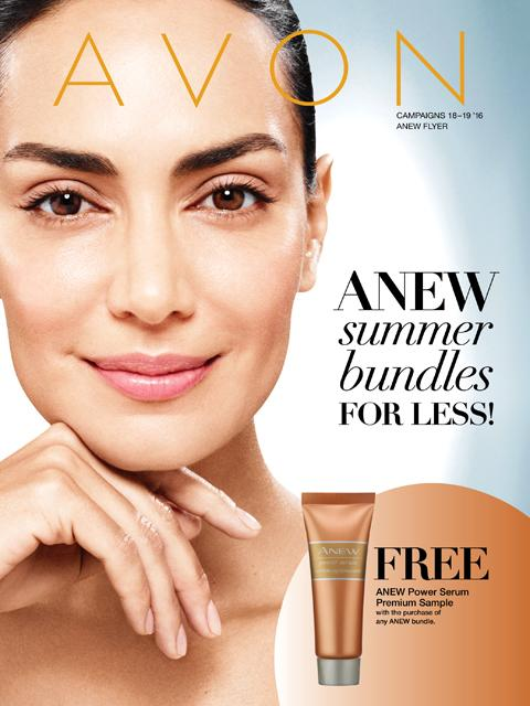 avon anew summer bundles flyer campaign 18-19