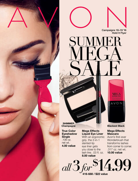 avon online summer mega sale flyer campaigns 18-19, 2016